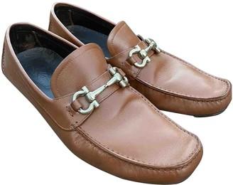 Salvatore Ferragamo Camel Leather Flats