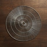 Crate & Barrel Round Silver Placemat