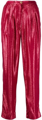 Forte Forte Glitter Patterned Cropped Trousers