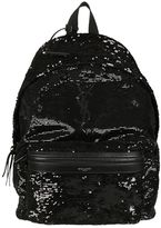 Saint Laurent Classic City Sequin Backpack