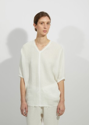 Dusan Linen Gauze V-Neck Top