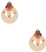 Anton Heunis Floral Motif Earring Jacket in Metallic Gold.