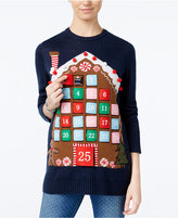 Planet Gold Juniors' Advent Calendar Holiday Sweater
