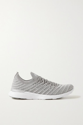 APL Athletic Propulsion Labs Techloom Wave Metallic Mesh Sneakers - Silver