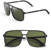 Dolce & Gabbana DG4241 58mm Square Aviator Sunglasses