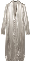 Narciso Rodriguez Metallic Silk-satin Dress - Silver