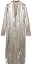 Narciso Rodriguez Metallic Silk-satin Dress - Silver