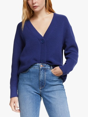 AND/OR Alex Oversized Cardigan, Blue