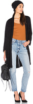 Michael Stars Ladder Stitch Cardigan in Black