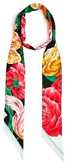 Burberry Floral Silk Skinny Scarf