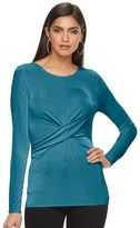 JLO by Jennifer Lopez Women's Twist Front Top