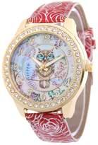 Sloggi Fashion Women's Round Quartz Watch PU Leather Band Owl Cute Bracelet Watches