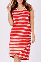 ELM NEW Womens Knee Length Dresses Daquiri Stripe Dress