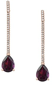 Bloomingdale's Rhodolite & Diamond Drop Earrings in 14K Rose Gold - 100% Exclusive