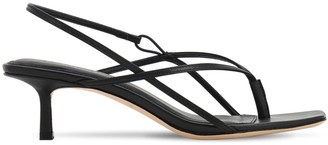 Studio Amelia 50mm Leather Thong Sling Back Sandals