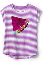 Classic Girls Plus Dolman Embellished Graphic Tee-Pineapple Tipped Stripe