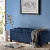 Madison Park Shandra Bench Storage Ottoman with Tufted Top - Blue - 50.3W x19.29Dx18.89H by Madison Park
