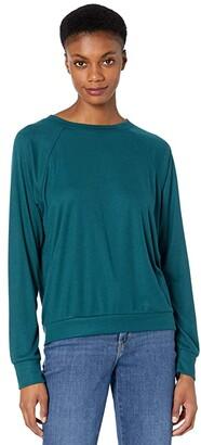 Eberjey Mina - The Ringer Sweatshirt (Evergreen) Women's Pajama