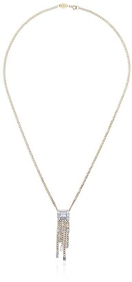 Mindi Mond Yellow Gold Clarity Five Stand Tassel Diamond Pendant Necklace