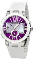 Ulysse Nardin Women's 24310/3007 Executive Dual Time Purple Diamond Dial Watch