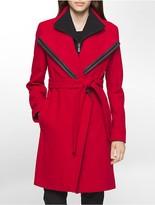 Calvin Klein Belted Shawl Collar Jacket