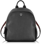 MCM Polke Studs Black Leather Mini Backpack