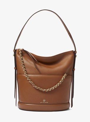 MICHAEL Michael Kors Reese Large Pebbled Leather Shoulder Bag