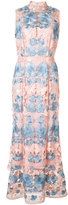 Marchesa floral dress - women - Polyester - 0