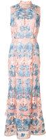 Marchesa floral dress - women - Polyester - 2