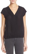 Joie Women's 'Marcher' Pleated Silk Top