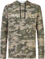 Balmain camouflage logo hoodie
