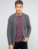 Pull&Bear Cardigan In Dark Gray Marl