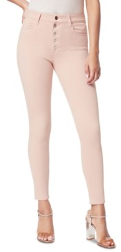 Joe's Jeans Charlie Exposed-Button Ankle Skinny Jeans