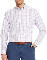 Izod Glen Plaid Long Sleeve Plaid Button-Front Shirt