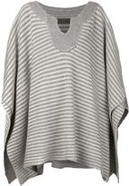 The Elder Statesman cashmere striped poncho - women - Cashmere - One Size