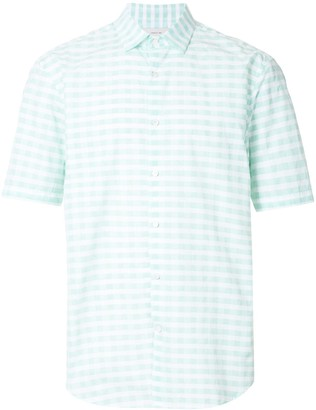 Cerruti short sleeve checked shirt