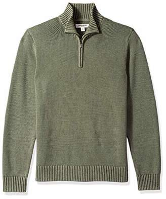 Goodthreads Amazon Brand Men's Soft Cotton Quarter Zip Sweater