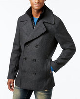 American Rag Men's Notch Collar Double Breasted Twill Peacoat with Zip Bib, Only at Macy's