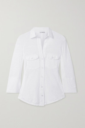 James Perse Slub Cotton Shirt - White
