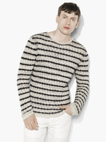 John Varvatos Striped Crewneck Sweater