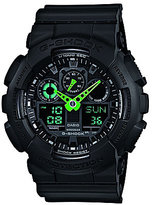 G-Shock Neon Highlights Ana-Digi Stainless Steel and Resin Strap World Time Watch