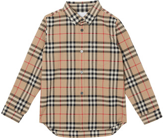 Burberry Fredrick Long-Sleeve Check Shirt, Size 3-14