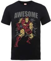 Marvel Comics Iron Man Awesome Men's Black T-Shirt