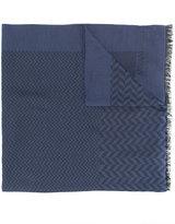 Armani Collezioni long frayed scarf