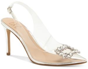 INC International Concepts Inc Women's Kenina Crystal Ornament Slingback Heels, Created for Macy's Women's Shoes