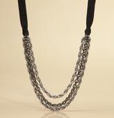 Three Chain Ribbon Necklace