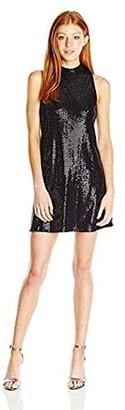 Jump Women's Starbrite Sequin Mock Neck Sexy Dress