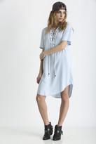 Rails Rocky Tencel Lace Up Short Sleeve Dress