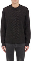 Rag & Bone Men's Wool-Blend Crewneck Sweater-BROWN
