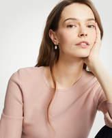 Ann Taylor Stone Pearlized Drop Earrings